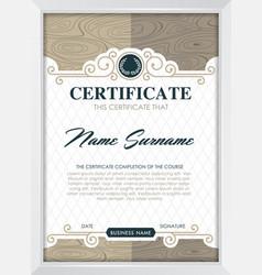 certificate 145 vector image