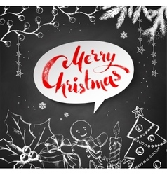 Christmas of festive objects vector