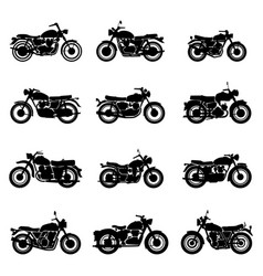 classic road vintage motorcycles vector image