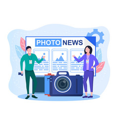 Concept photojournalism vector