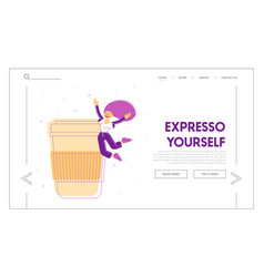 courage active lifestyle website landing page vector image