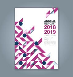 cover annual report 1090 vector image