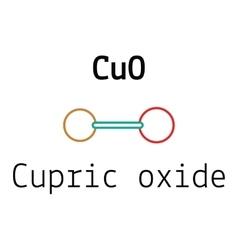 CuO cupric oxide molecule vector