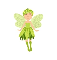 Cute Forest Fairy Girly Cartoon Character vector