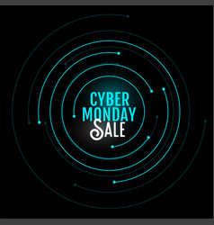 Cyber monday sale background in circular style vector