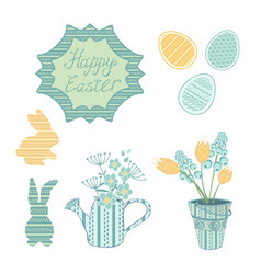 decorative beautiful ester set vector image