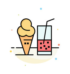 drink ice cream summer juice abstract flat color vector image