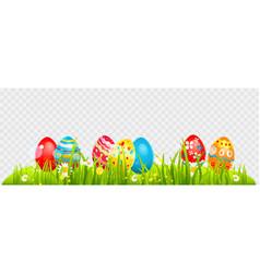 Easter eggs border vector