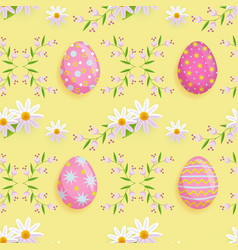 easter spring seamless pattern vector image