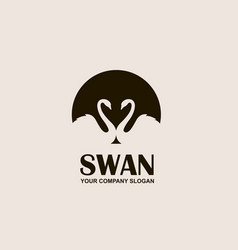emblem of swan vector image