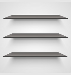 empty shelves on light grey background vector image