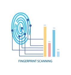 fingerprint scanning process modern device vector image