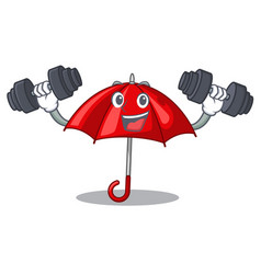 fitness umbrella red in a character beautiful vector image