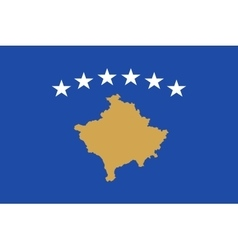 Flag of Kosovo in correct size and colors vector