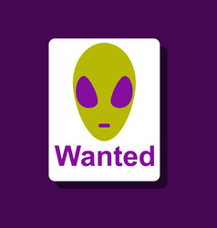 Flat icon design collection wanted alien in vector