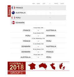 football 2018 group c match schedule all vector image