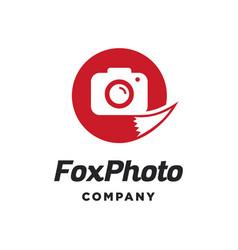 fox photo logo vector image