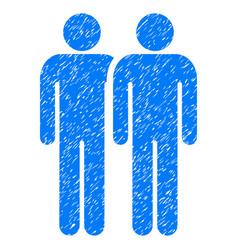 Gay couple grunge icon vector
