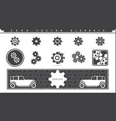 gear elements set vector image
