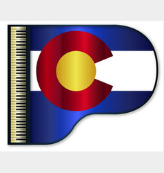 Grand piano colorado flag vector