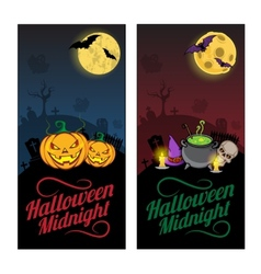 Halloween banners or flyers concept vector image