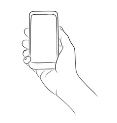 Hands Holding the Smart Phone vector
