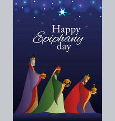 Happy epiphany day design vector