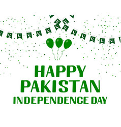 Happy pakistan independence day lettering vector