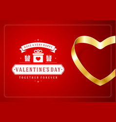 happy valentines day greeting card design and vector image
