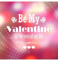 Happy Valentines Typography Background vector image