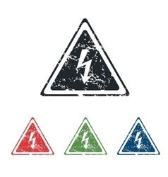 High voltage grunge icon set vector image