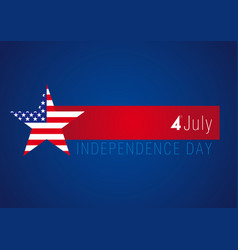 independence day usa banner vector image