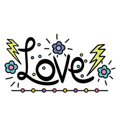 Isolated love word design vector
