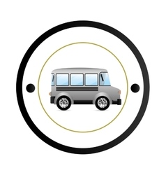 Isolated school bus vector