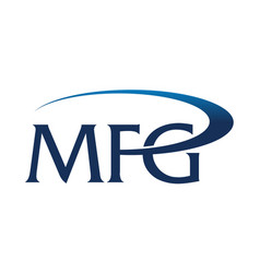 letter m f g vector image