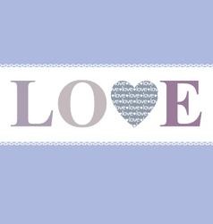 Love in heart lavender vector