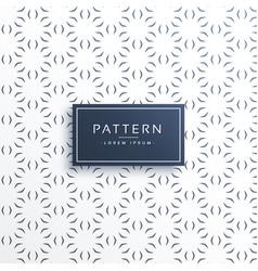 minimal flower decorative pattern background vector image