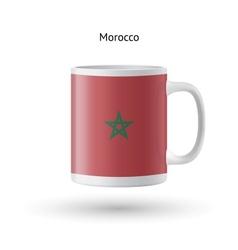 Morocco flag souvenir mug on white background vector