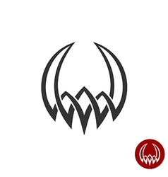 Mythology weaving abstract tattoo symbol Round vector image