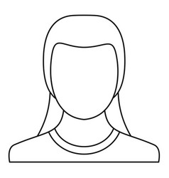 new woman avatar icon thin line vector image