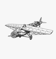 passenger airplane corncob or plane aviation vector image