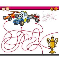 paths or maze cartoon game vector image