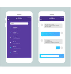 Phone chat interface vector