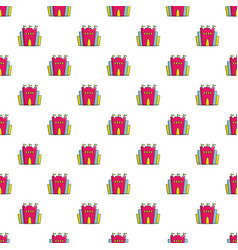 princess castle pattern seamless vector image