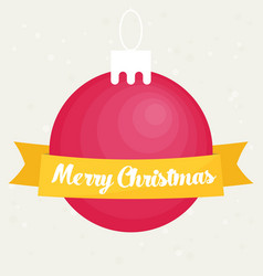 retro decorative christmas ball christmas card vector image