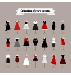 Retro woman dresses vector