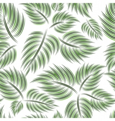 seamless pattern with green leaf vector image