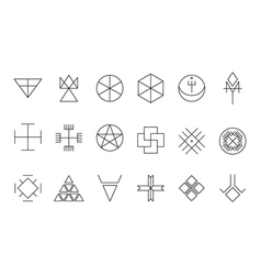 Set of geometric hipster shapes11 vector