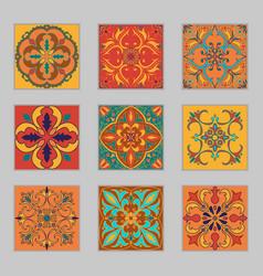 Set of portuguese tiles vector