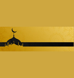 Stylish golden mosque design islamic banner vector